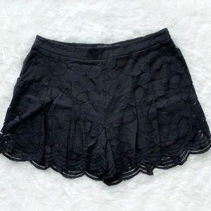 Torrid Black Floral Lace Shorts